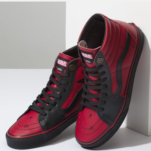 Vans Marvel Limited Edition Sk8 Hi Deadpool bfeb5a318